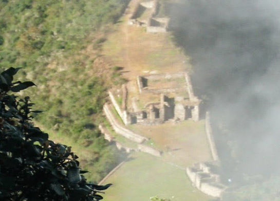 Choquequirao in the Andes Mountains